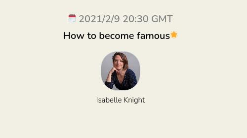 How to become famous🌟