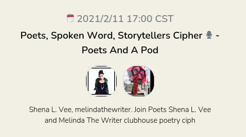 Poets, Spoken Word, Storytellers Cipher 🎙 - Poets And A Pod