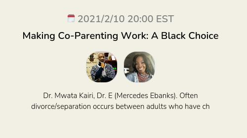 Making Co-Parenting Work: A Black Choice