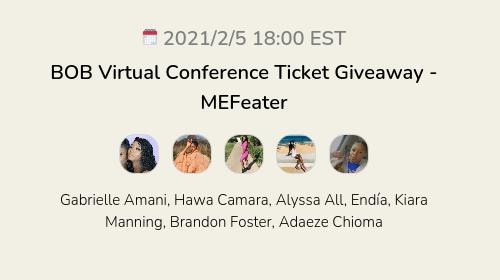 BOB Virtual Conference Ticket Giveaway  - MEFeater