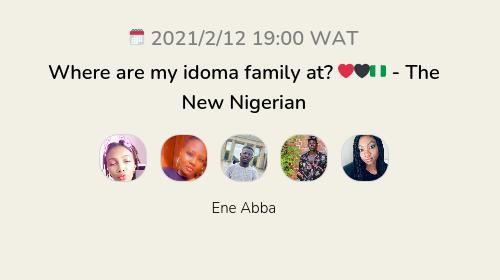 Where are my idoma family at? ❤️🖤🇳🇬 - The New Nigerian