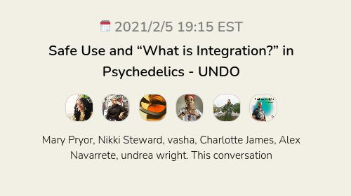 """Safe Use and """"What is Integration?"""" in Psychedelics - UNDO"""