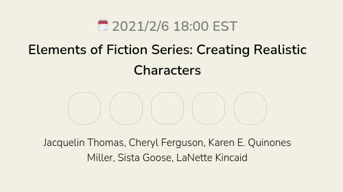 Elements of Fiction Series: Creating Realistic Characters