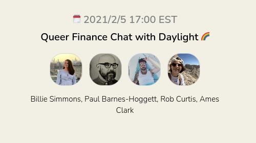 Queer Finance Chat with Daylight 🌈