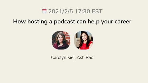 How hosting a podcast can help your career