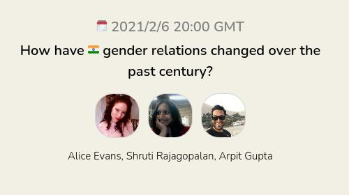 How have 🇮🇳 gender relations changed over the past century?