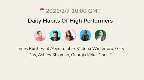 Daily Habits Of High Performers