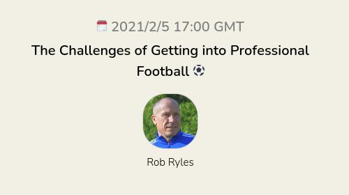 The Challenges of Getting into Professional Football ⚽️