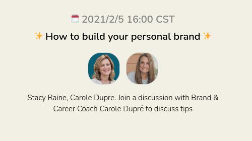 ✨ How to build your personal brand ✨