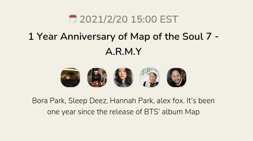 1 Year Anniversary of Map of the Soul 7 - A.R.M.Y