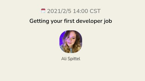 Getting your first developer job