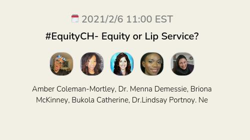 #EquityCH- Equity or Lip Service?