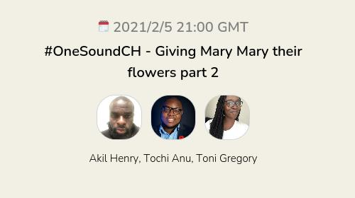 #OneSoundCH - Giving Mary Mary their flowers part 2