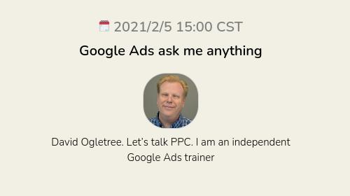 Google Ads ask me anything