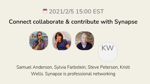 Connect collaborate & contribute with Synapse