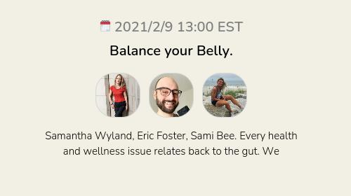 Balance your Belly.