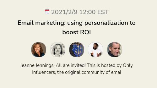 Email marketing: using personalization to boost ROI