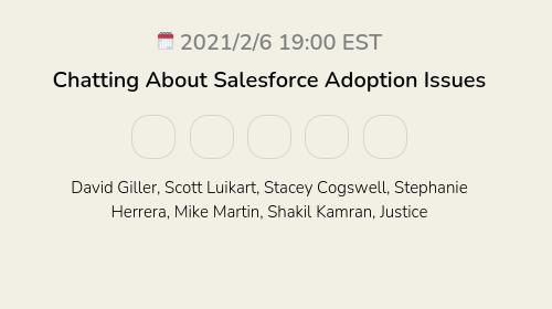 Chatting About Salesforce Adoption Issues
