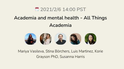 Academia and mental health - All Things Academia