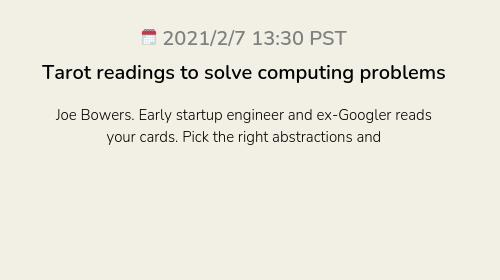 Tarot readings to solve computing problems