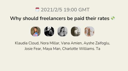 Why should freelancers be paid their rates 💸