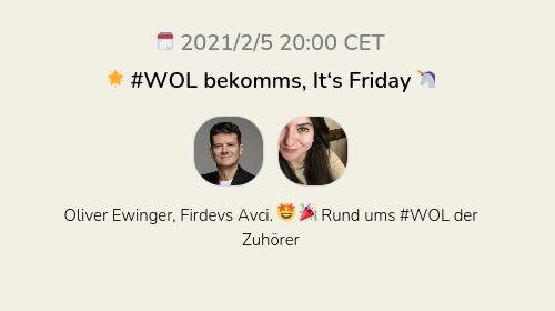 🌟 #WOL bekomms, It's Friday 🦄