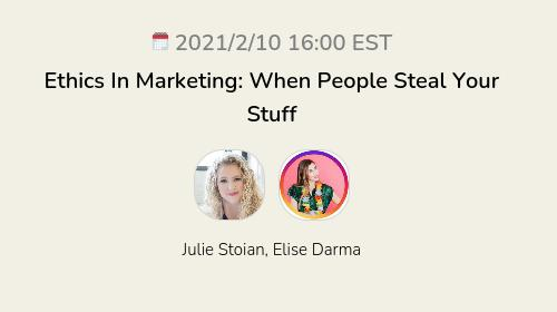 Ethics In Marketing: When People Steal Your Stuff