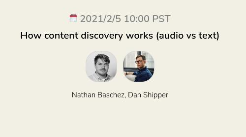 How content discovery works (audio vs text)