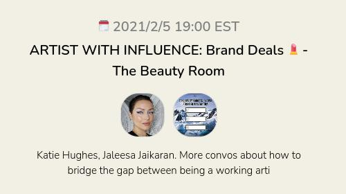 ARTIST WITH INFLUENCE: Brand Deals 💄 - The Beauty Room