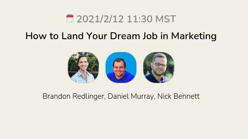 How to Land Your Dream Job in Marketing