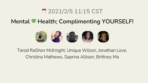 Mental 💚 Health; Complimenting YOURSELF!