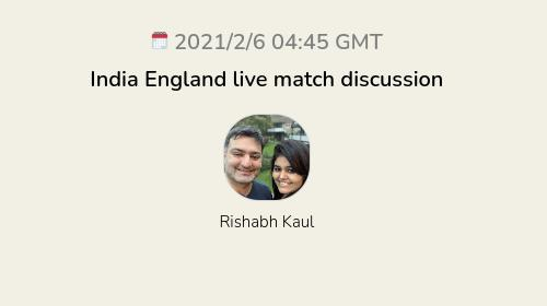 India England live match discussion