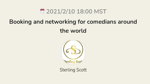 Booking and networking for comedians around the world
