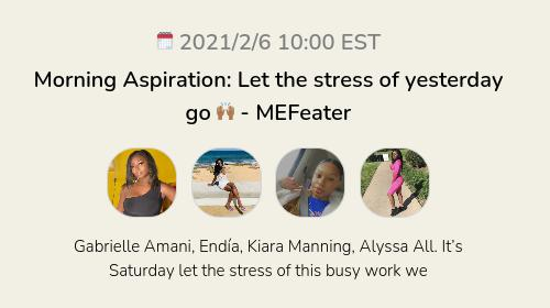 Morning Aspiration: Let the stress of yesterday go 🙌🏾 - MEFeater