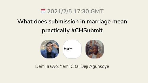 What does submission in marriage mean practically #CHSubmit