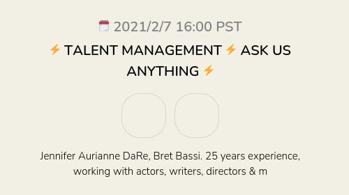 ⚡️ TALENT MANAGEMENT ⚡️ ASK US ANYTHING ⚡️