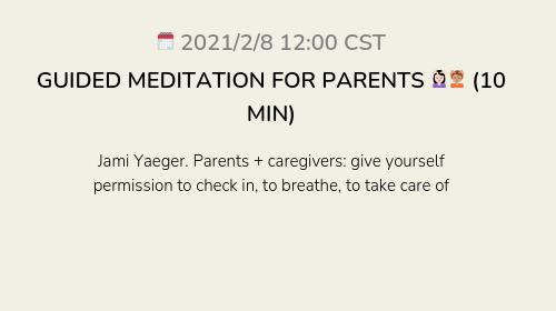 GUIDED MEDITATION FOR PARENTS 💆🏻♀️💆🏽 (10 MIN)