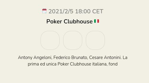 Poker Clubhouse 🇮🇹