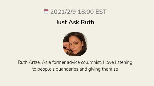 Just Ask Ruth