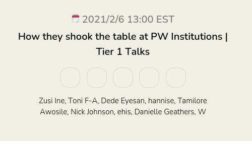 How they shook the table at PW Institutions | Tier 1 Talks