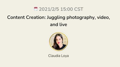 Content Creation: Juggling photography, video, and live