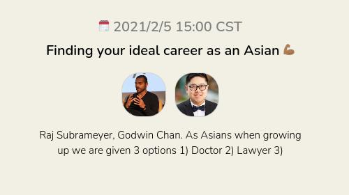 Finding your ideal career as an Asian 💪🏾