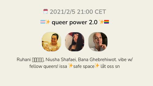 🏳️⚧️✨ queer power 2.0 ✨🏳️🌈