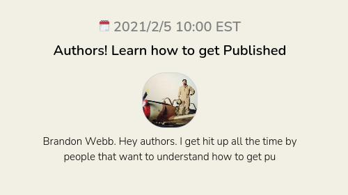 Authors! Learn how to get Published