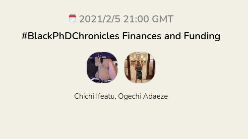 #BlackPhDChronicles Finances and Funding