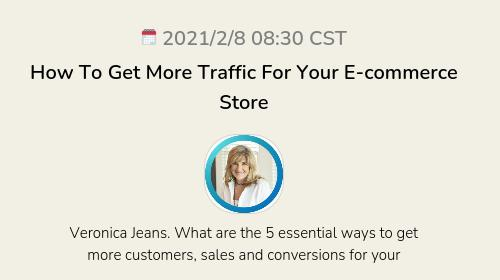 How To Get More Traffic  For Your E-commerce Store