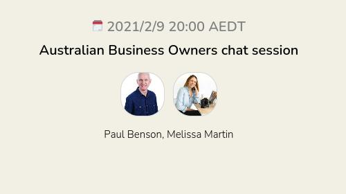Australian Business Owners chat session