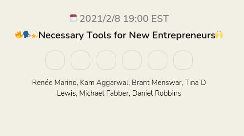 🔥🗣💫Necessary Tools for New Entrepreneurs🙌