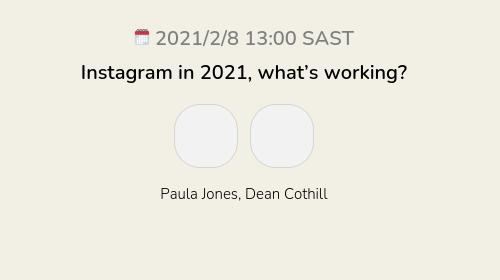 Instagram in 2021, what's working?