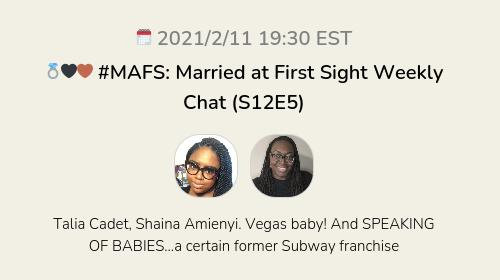 💍🖤🤎 #MAFS: Married at First Sight Weekly Chat (S12E5)
